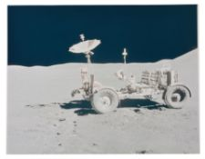 Lunar Rover at its final parking spot [large format], Apollo 15, August 1971