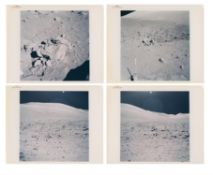 Moonscapes at Van Serg Crater, the last station explored on the Moon, Apollo 17, December 1972