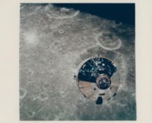 A view of the first spacecraft photographed over another world, Apollo 10, May 1969