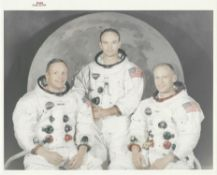 Official portrait of the crew before the historic mission to the Moon, Apollo 11, July 1969