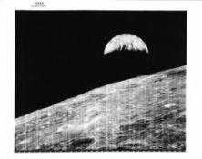 Earthrise, Lunar Orbiter 1, August 1966