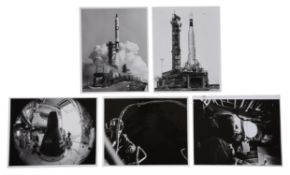 Pre-launch activities, lift-off and Gene Cernan's EVA [five views], Gemini 9A, June 1966