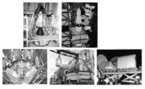 Views of pre-launch preparations of the spacecraft [five photographs], Apollo 11, January-May 1969