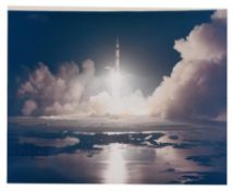 Dramatic view of the last lift-off to the Moon [large format], Apollo 17, December 1972