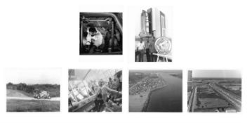 Six views of pre-launch training and preparations, Apollo 15, April-July 1971