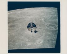 CM 'Charlie Brown', first spacecraft photographed over the lunar surface, Apollo 10, May 1969