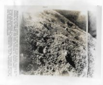 First photograph transmitted from the surface of the Moon, Luna 9, February 1966