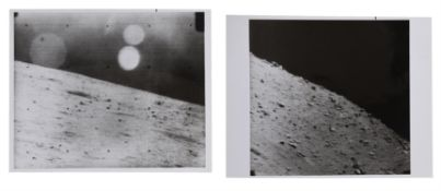 Two views from the first U.S. soft-lander on the Moon; Ocean of Storms, Surveyor 1, June 1966