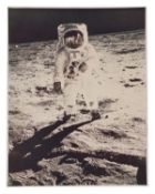 Buzz Aldrin on the Moon [large format], Life Magazine cover image, Apollo 11, July 1969