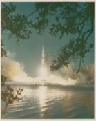 The launch of the second Saturn V rocket, Apollo 6, April 1968