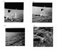Encounter with the unmanned Surveyor 3 spacecraft [four views], Apollo 12, November 1969