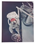 Russell Schweickart during a spacewalk [large format], Apollo 9, March 1969
