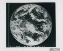 First high quality colour photograph of the full Earth (b&w version), ATS 3, November 1967