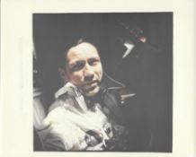 Donn F. Eisele, onboard photograph during NASA's first crewed Apollo mission, Apollo 7, October 1968
