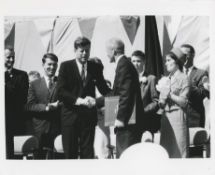 Three views of President Kennedy: at John Glenn's award ceremony and other venues, 1962-1963