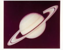 Views of Saturn and its rings [four prints], Voyager 1, October- November 1980