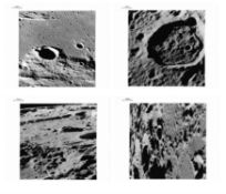 Four views of the lunar surface taken by the last men to walk on the Moon, Apollo 17, December 1972