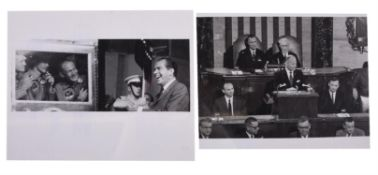 Quarantined crew speak with President Nixon and in front of Congress, Apollo 11, July-September 1969