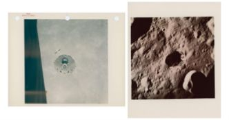 Diptych: the CM 'Casper' after undocking from the LM 'Orion', Apollo 16, April 1972