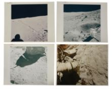John Young and Charles Duke conducting scientific experiments on the Moon [4], Apollo 16, April 1972