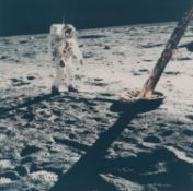 Buzz Aldrin walking on the Moon [large format], Apollo 11, July 1969