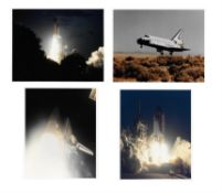 Four views of the launch and landing of Space Shuttle 'Endeavour', STS-59, April 1994