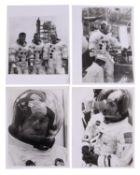 Prime Apollo 13 crew preparing for their mission [four views], Apollo 13, September 1969-April 1970