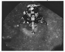 Lunar Module 'Intrepid' heading for the lunar landing site, Apollo 12, November 1969