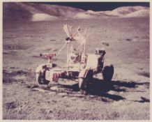 The Lunar Rover in the Valley of Taurus-Littrow, station 8, Apollo 17, December 1972, EVA 3
