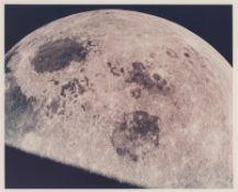 Receding Moon seen on the homebound journey, Apollo 8, December 1968