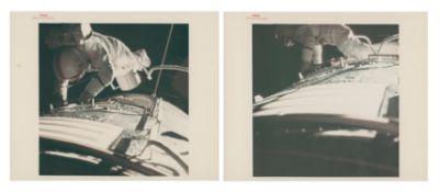 Diptych: the last EVA of the Apollo programme, deep space EVA, Apollo 17, December 1972