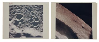 Four views of the lunar far side as first photographed by humans, Apollo 8, 1968