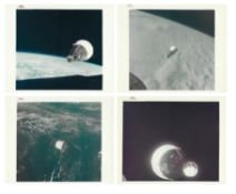 The historic first manned rendezvous in space [four photographs], Gemini 6A & 7, December 1965