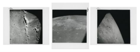 Wide-angle views of the lunar surface seen the orbiting CM 'Endeavour', Apollo 15, July-August 1971