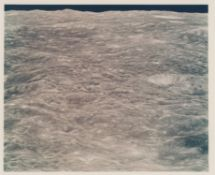 Sun-illuminated farside lunar terrain as first witnessed by humans, Apollo 8, December 1968