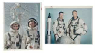 Two portraits of the crew, Gemini 10, July 1966