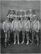 Two portraits of the Mercury Seven astronauts, 1960-1961
