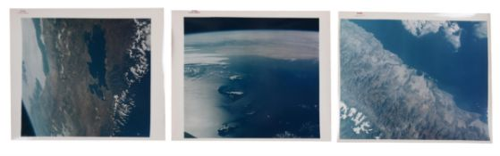 Three views of the Earth: South America (Peru, Bolivia, Chile), Canary Islands, Gemini 9A, June 1966