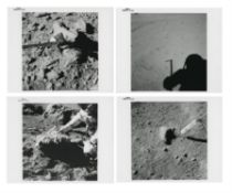 Close-ups documenting geological investigations at station 9A, Apollo 15, July-August 1971, EVA 3