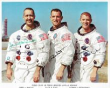 Official portrait of the crew, signed, Apollo 9, March 1969