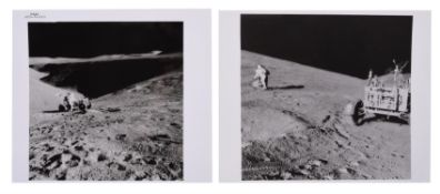 Views of David Scott near the Lunar Rover at St George Crater, Apollo 15, July-August 1971, EVA 1