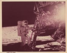Diptych: the first steps of Pete Conrad and Alan Bean on the Moon, Apollo 12, November 1969