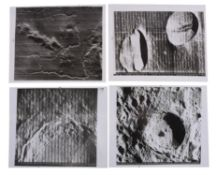 Four orbital views of the near side of the Moon, Lunar Orbiter 5, August 1967