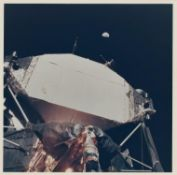 Planet Earth above the Lunar Module 'Eagle', Apollo 11, July 1969