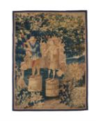 A French 'Teniers' tapestry fragment, early 18th century