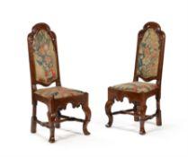 A pair of Queen Anne oak chairs