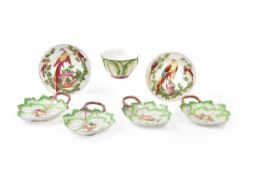 A selection of Chelsea polychrome porcelain