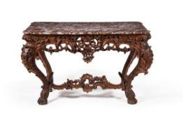 A Louis XV carved oak pier table