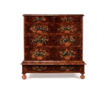 A William & Mary oyster veneered , bone and specimen marquetry chest of drawers, circa 1690