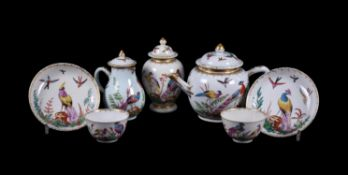 A London decorated Chinese Export part coffee service